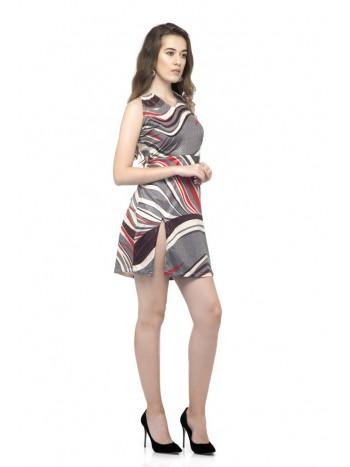 Sleeveless side split dress