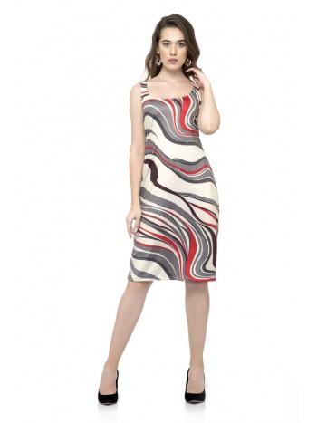 Sleeveless printed glamorous one-piece dress
