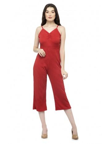 Red Shimmer jumpsuit