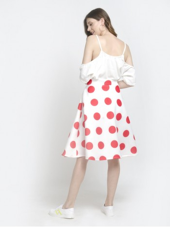 Polka Dot Long Skirts