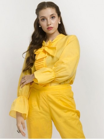 Yellow Full Sleeve Top