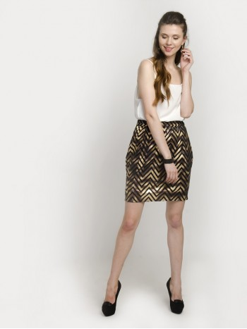 Zigzag Pencil Skirt