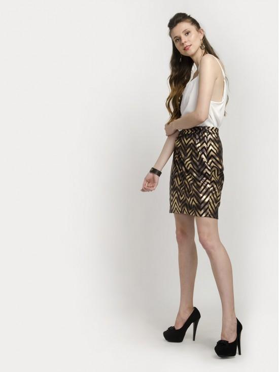Zigzag Pencil Skirt