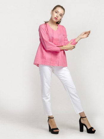 Rose Pink Full Sleeve Top