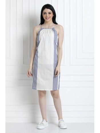Spaghetti Strap Knee length Dress in Soft Cotton Fabric