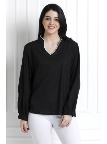 Full Sleeves Stand Collar Top