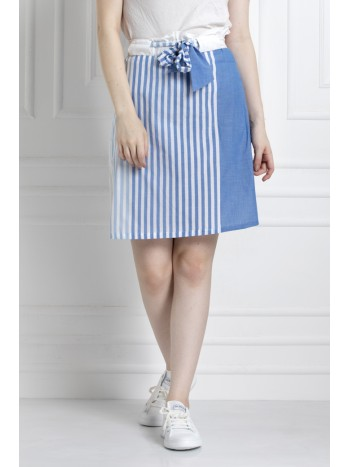 Paper Bag, A-Line Skirt with front Tie Up