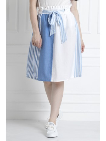 A-Line Skirt, Paper Bag Waist Skirt with front Tie Up