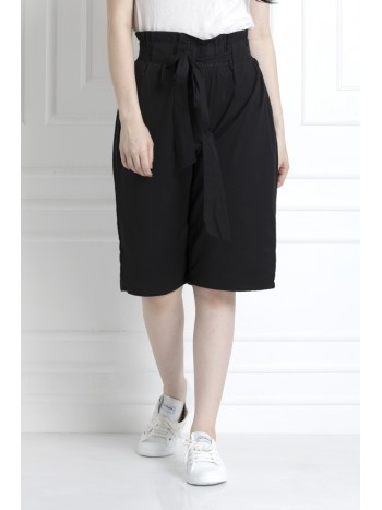 Knee length Bermuda Shorts In Organic Cotton