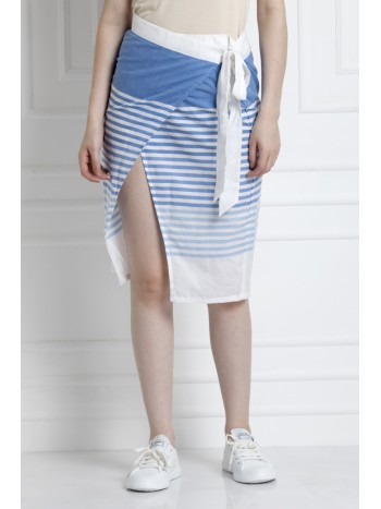 Overap Skirt With Self Tie
