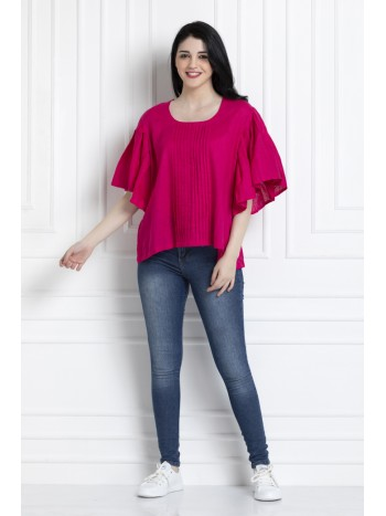 Flared Sleeved Top for A Comfortable Yet Smart Casual Style