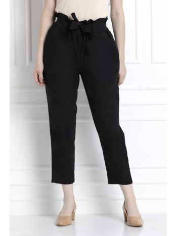 Paper Bag Waist Pants In 100% Cotton For That Stylish Yet Comfortable Feel