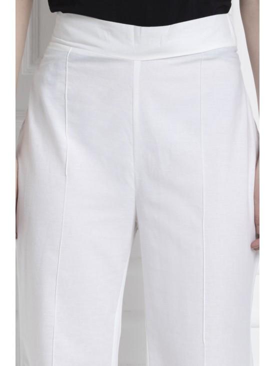 Wide Leg Pants in 100% Cotton