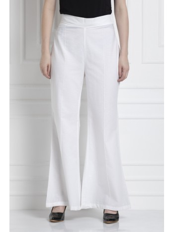 Wide Leg Pants in 100% Cotton