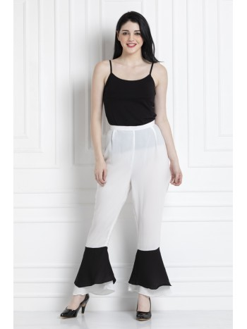 Pants With Bottom Down Flare