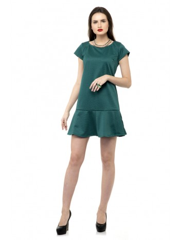 Bottom ruffle hem dress
