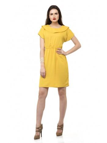 Collared waist shift dress