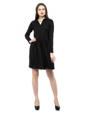 Black color mini dress