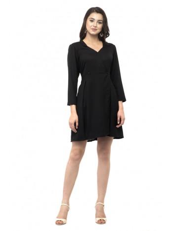 Black Mini dress with collars