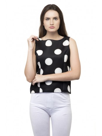 Big white polka dots spaghetti top