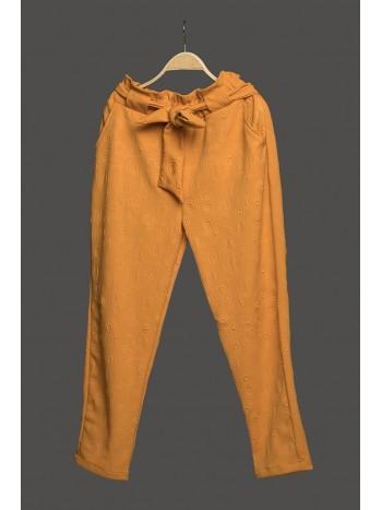 Textured paper bag pants