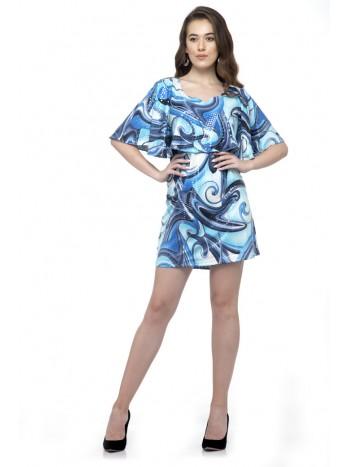 Half sleeve Ruffle mini dress
