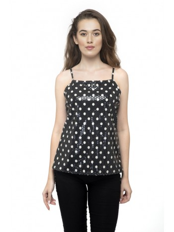 Polka Dot Circle Short Top