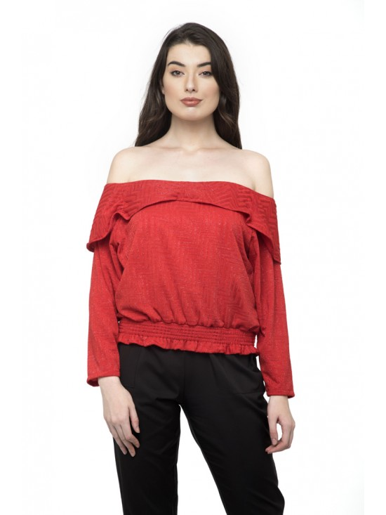 Off shoulder Fold over  Top