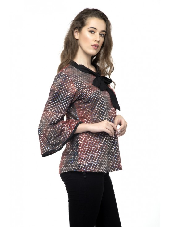 Era Style Party Full Sleeve Bright Top