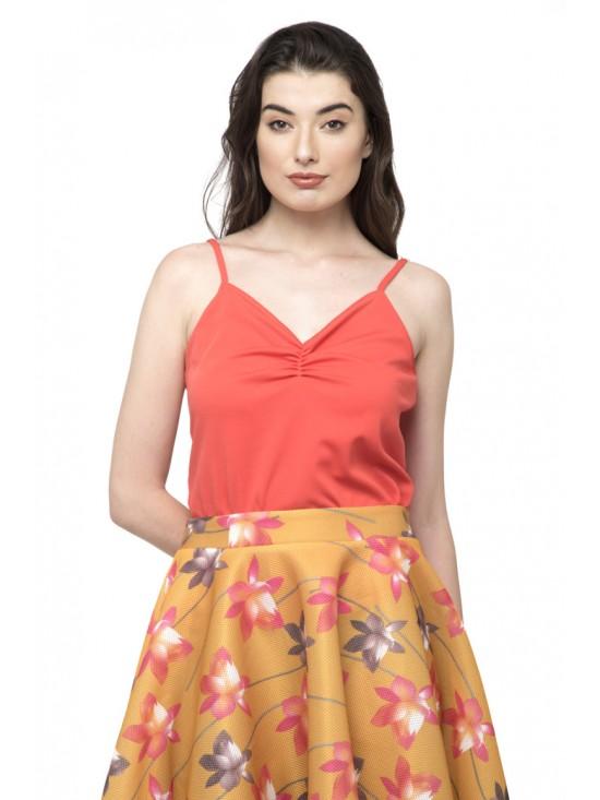 Top for high Waist Pleated Elegant Skirt