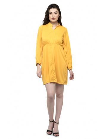 Full Sleeve Plain Romper Dress