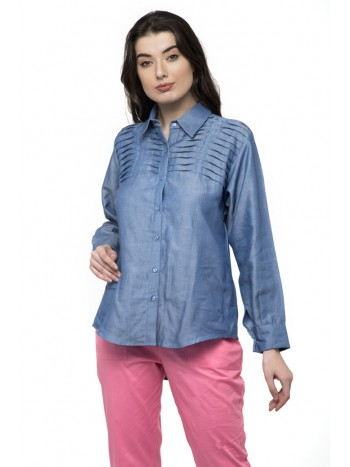 Full Sleeve Light Denim blue Shirt