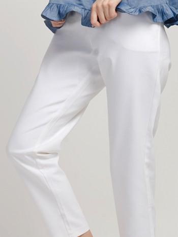 Hem White Pants